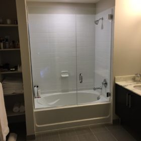 Frameless Tub Enclosure Door & Panel