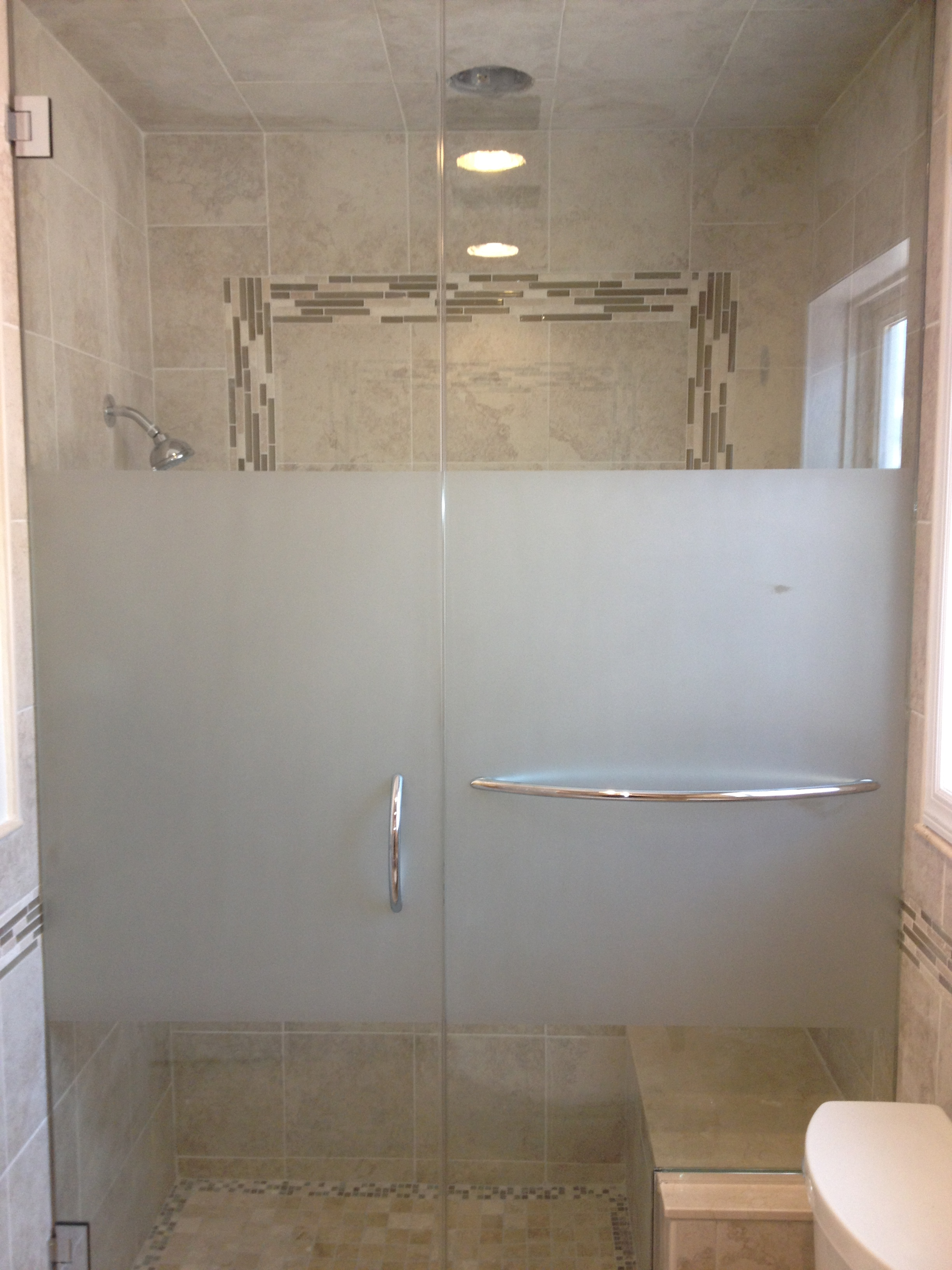 Frosted units new images mirror glass co Bathroom glass doors design