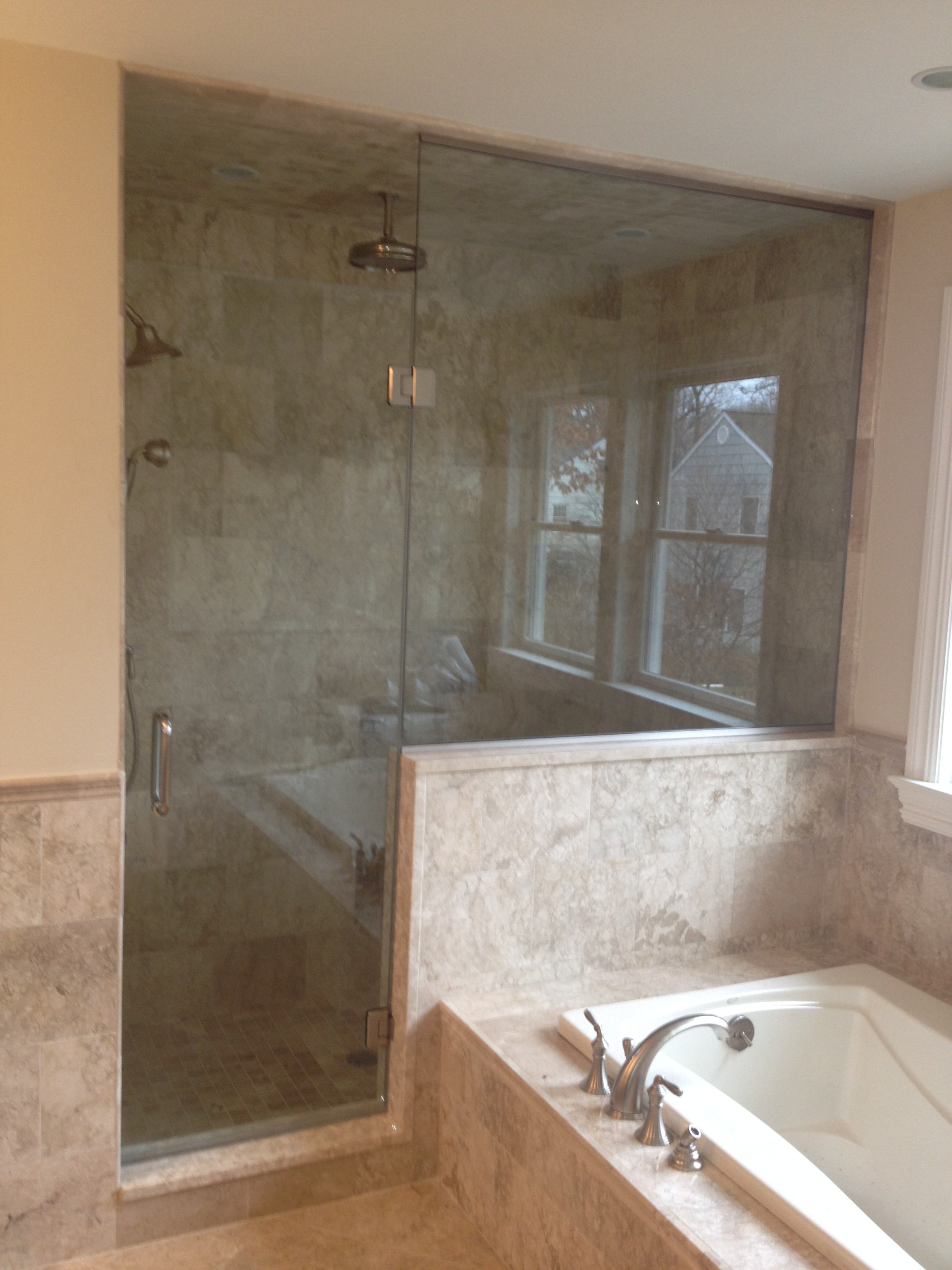 with doors no shower tub mirrors header of glass house frameless