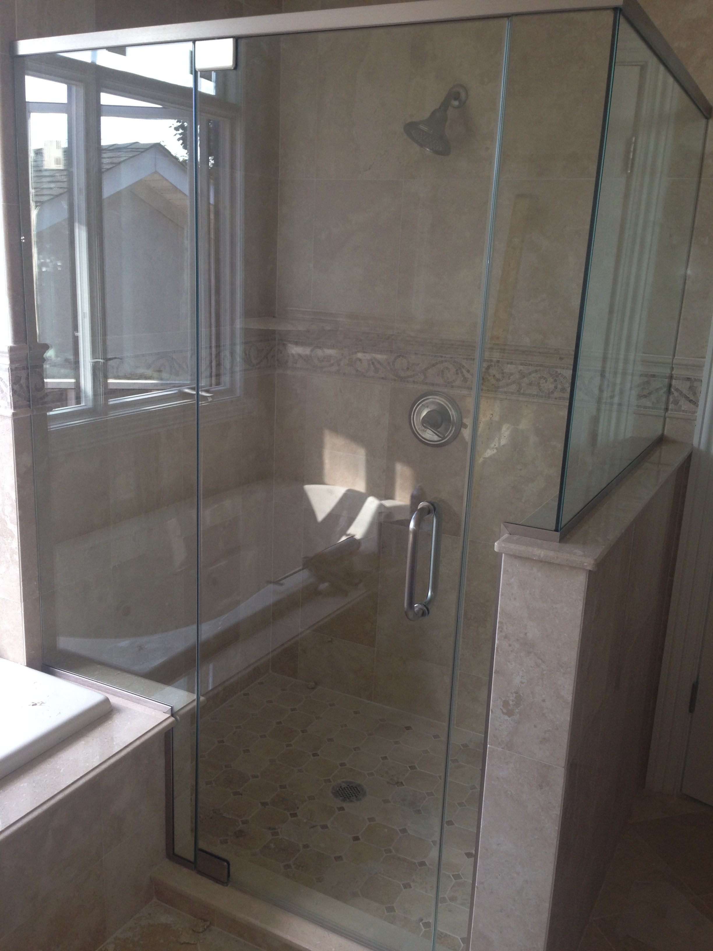Glass To Glass Corner Enclosure; Corner Frameless Enclosure; Corner  Frameless Shower; Corner Enclosure 8 ...