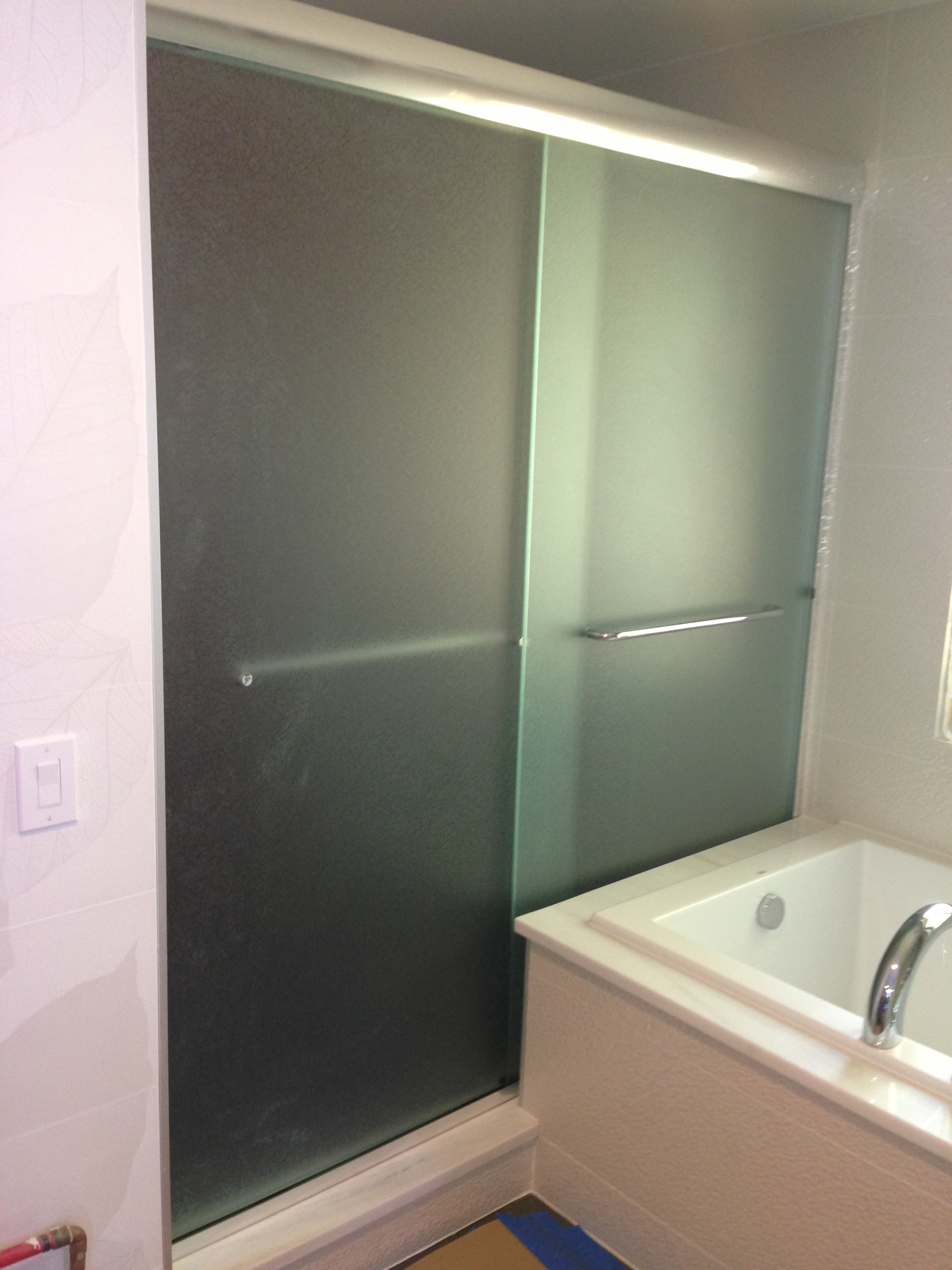 custom utah salt door enclosure glass enclosures shower city alternative lake doors