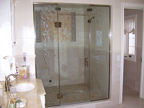 Frosted Shower Unit