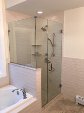 Corner Frameless Shower
